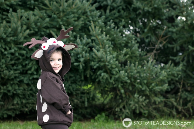 DIY Hoodies for kids -reindeer | spotofteadesigns.com