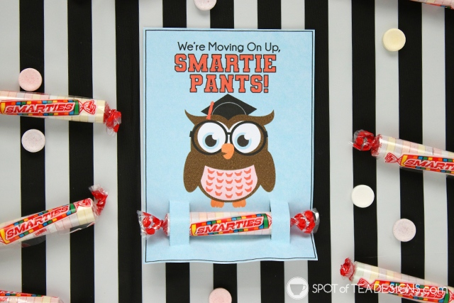 Last day of school printables - They hold a Smarties candy for your smartie pants! Both teacher to student and student to student styles available for instant download!   spotofteadesigns.com