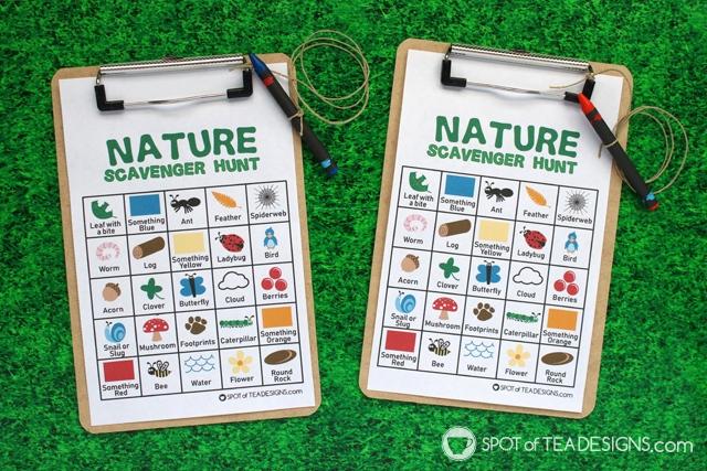 Summer Bucket List - Printable Scavenger Hunt activity | spotofteadesigns.com