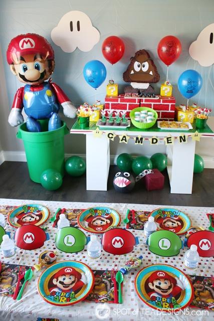 Super Mario Party Hacks - with free printables | spotofteadesigns.com