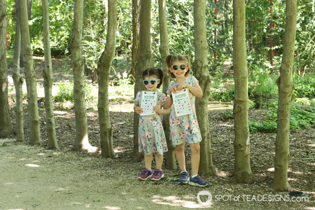 Summer bucket list - featuring nature scavenger hunt printables in use | spotofteadesigns.com