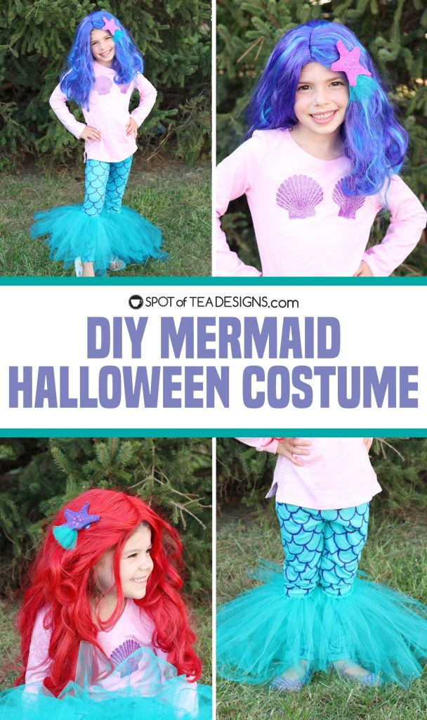 DIY Mermaid Halloween Costume | spotofteadesigns.com