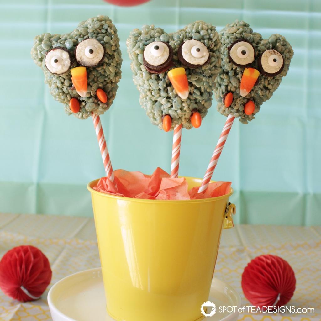 Rice Krispies Treats ideas: owls | spotofteadesigns.com