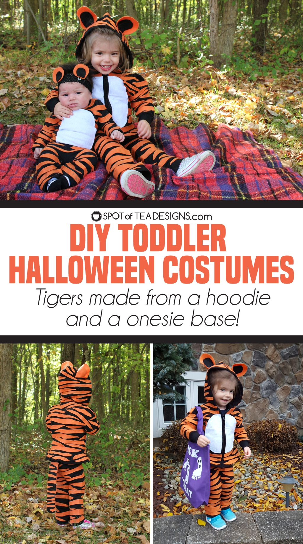 Almost No Sew Kids Tiger Halloween Costumes Spot Of Tea