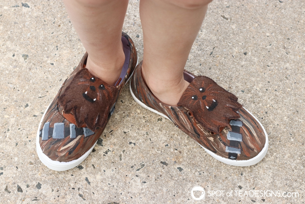 DIY Shoes Roundup - Star Wars Chewbacca shoes | spotofteadesigns.com