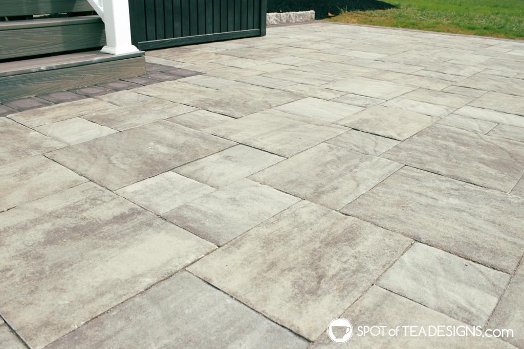 fall backyard updates - new paver patio | spotofteadesigns.com