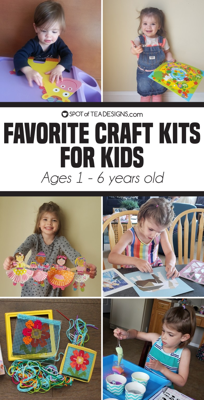 Favorite craft kits for kids ages 1 - 6 | spotofteadesigns.com