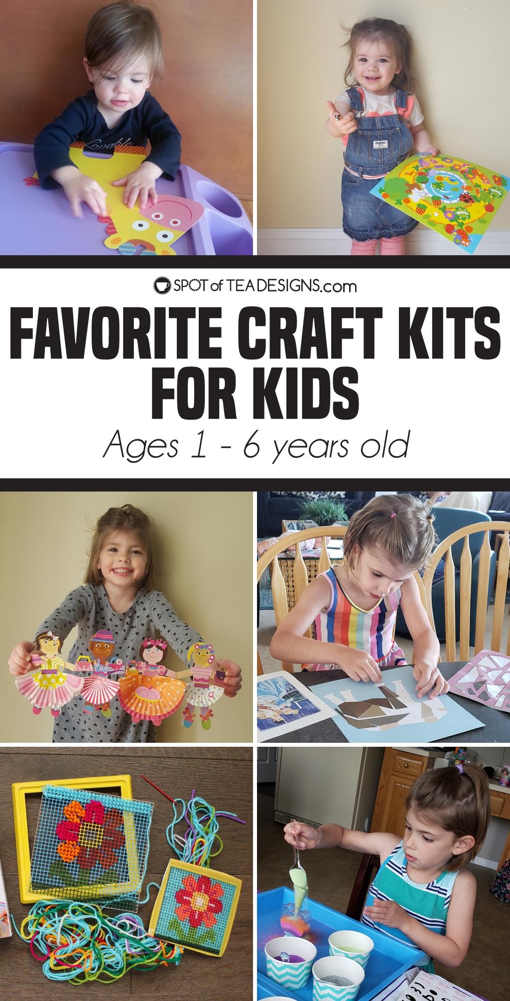 Favorite craft kits for kids ages 1 - 6 | spotofteadesigns.com
