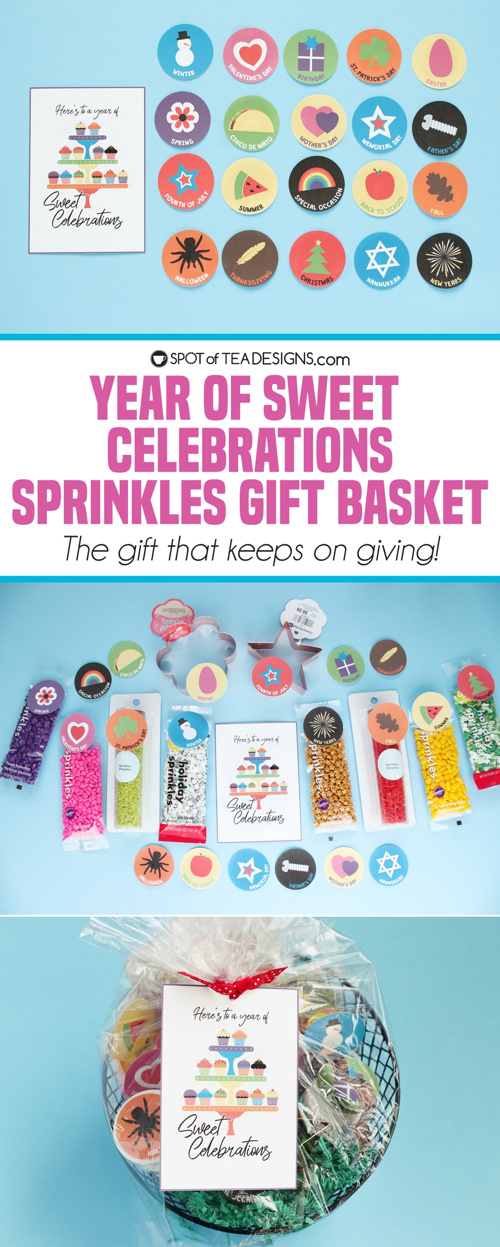 Year Of Celebrations Baking Gift Basket Printables Spot Of Tea Designs