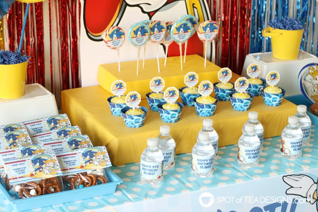 Sonic the hedgehog party hacks | spotofteadesigns.com