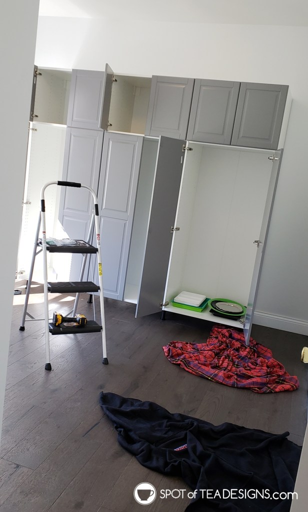Craft Room Tour Process - cabinet bases | spotofteadesigns.com