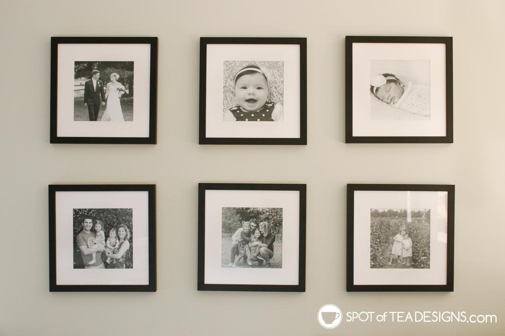 Home Tour - Living room gallery wall   spotofteadesigns.com