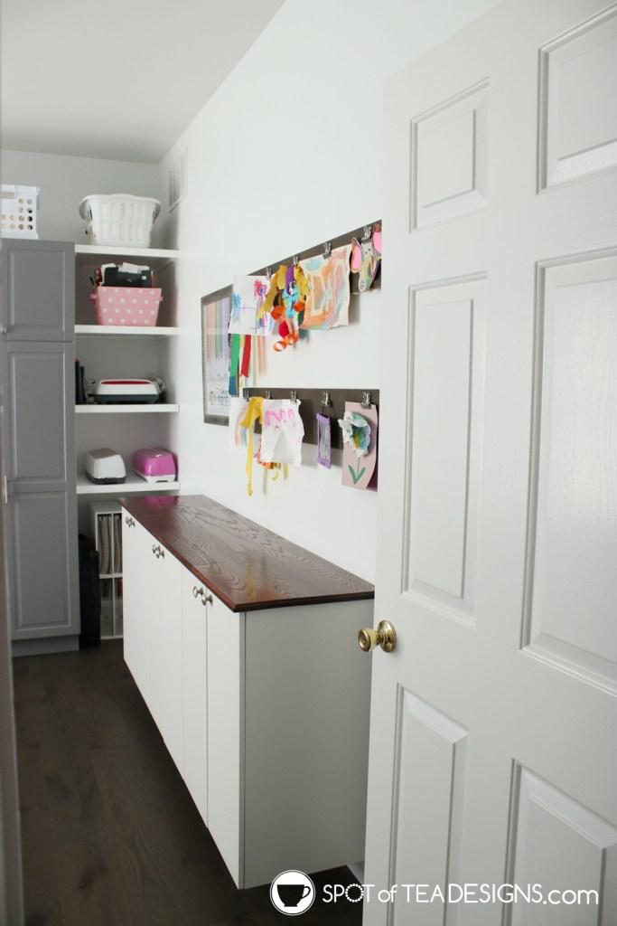 Craft Room Tour - view opening the door | spotofteadesigns.com