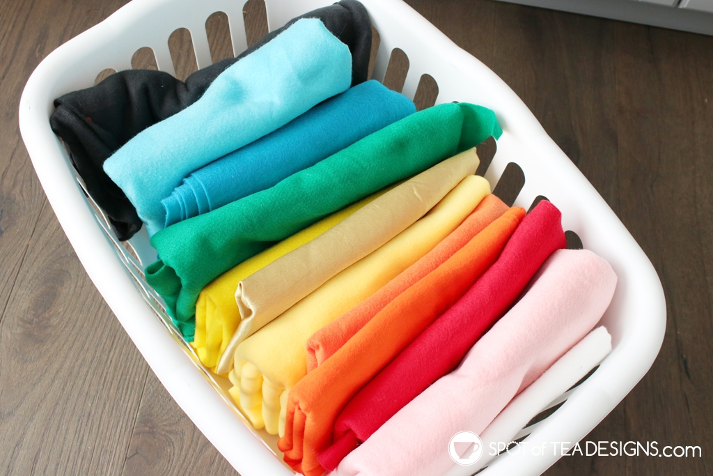 Craft Room Tour - fabric bin | spotofteadesigns.com