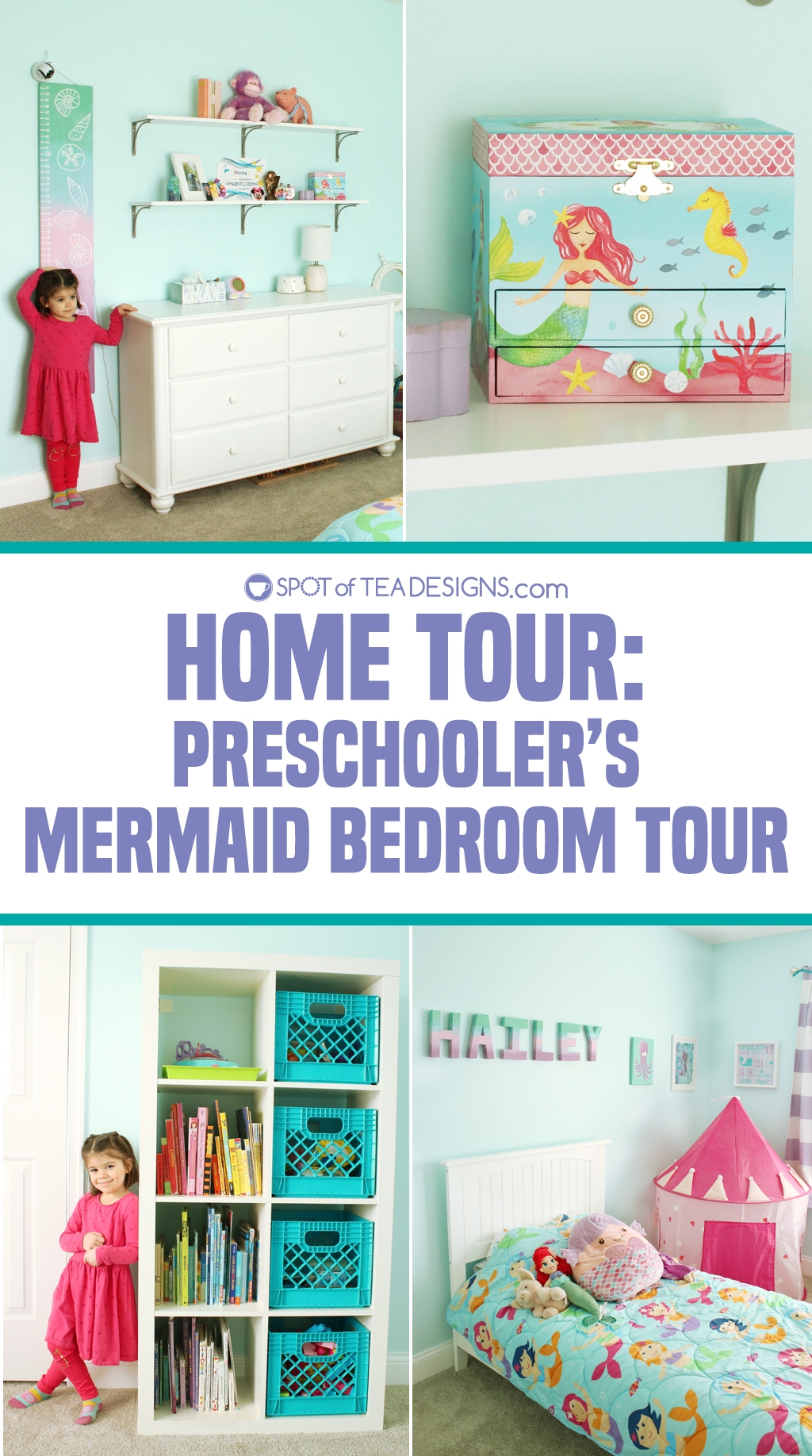 Home Tour - Preschooler's Mermaid Bedroom | spotofteadesigns.com