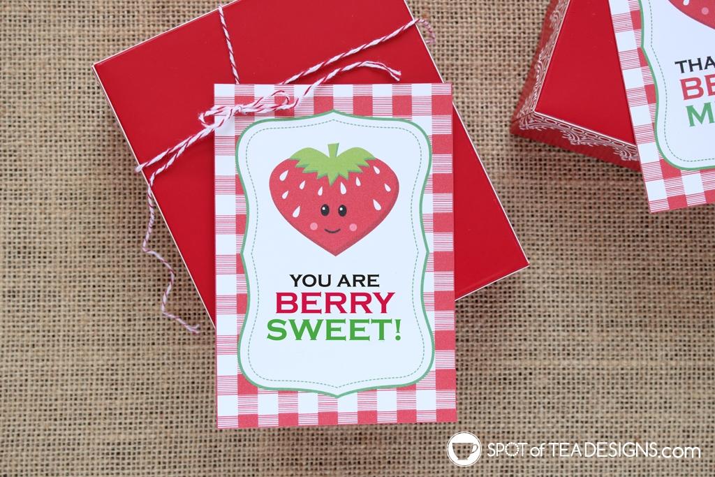 15+ Teacher appreciation printables - you are berry sweet tag | spotofteadesigns.com