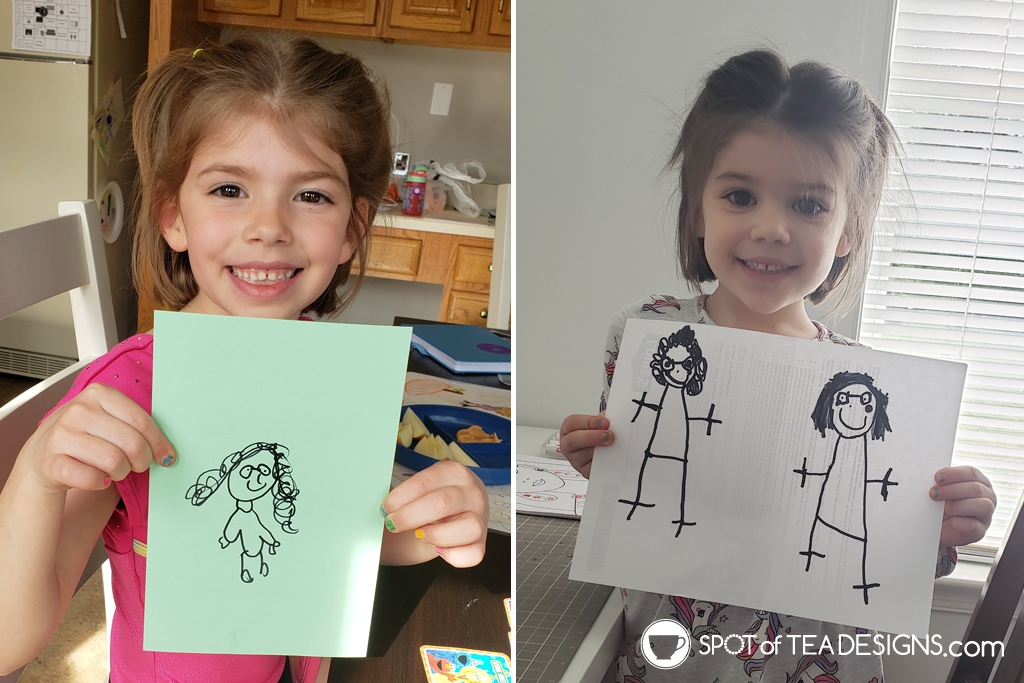 Mother's Day gift idea: T-shirt from kid drawings - world's best grandma | spotofteadesigns.com