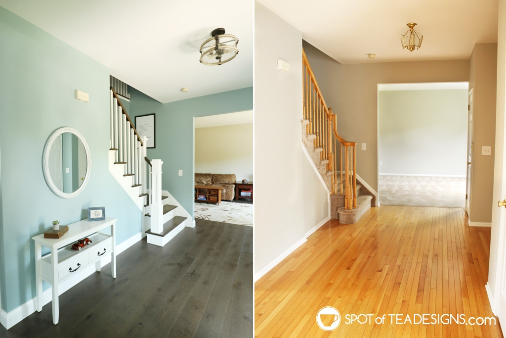 Entryway before and after | spofteadesigns.com