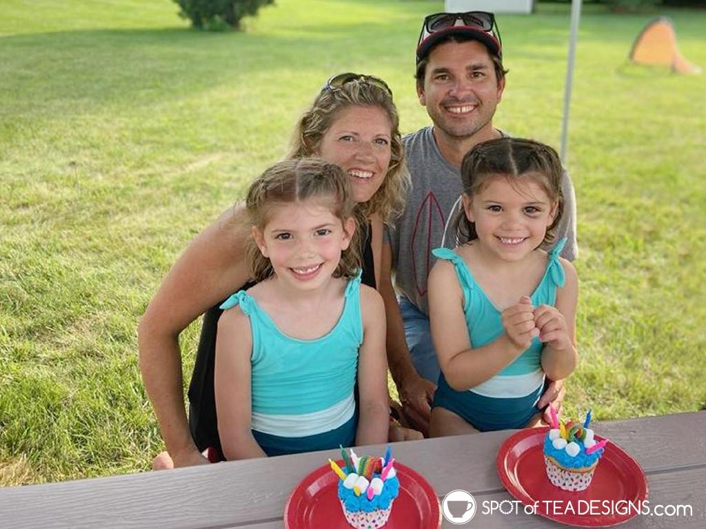 Rainbow birthday party - Nehil family photo | spotofteadesigns.com