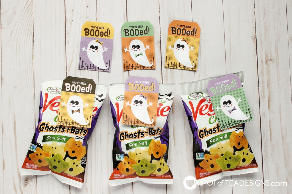You've been booed Halloween tags | spotofteadesigns.com