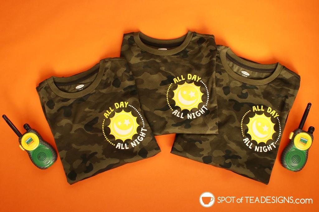 All Day All Night T-shirt - Free SVG Cut File   spotofteadesigns.com