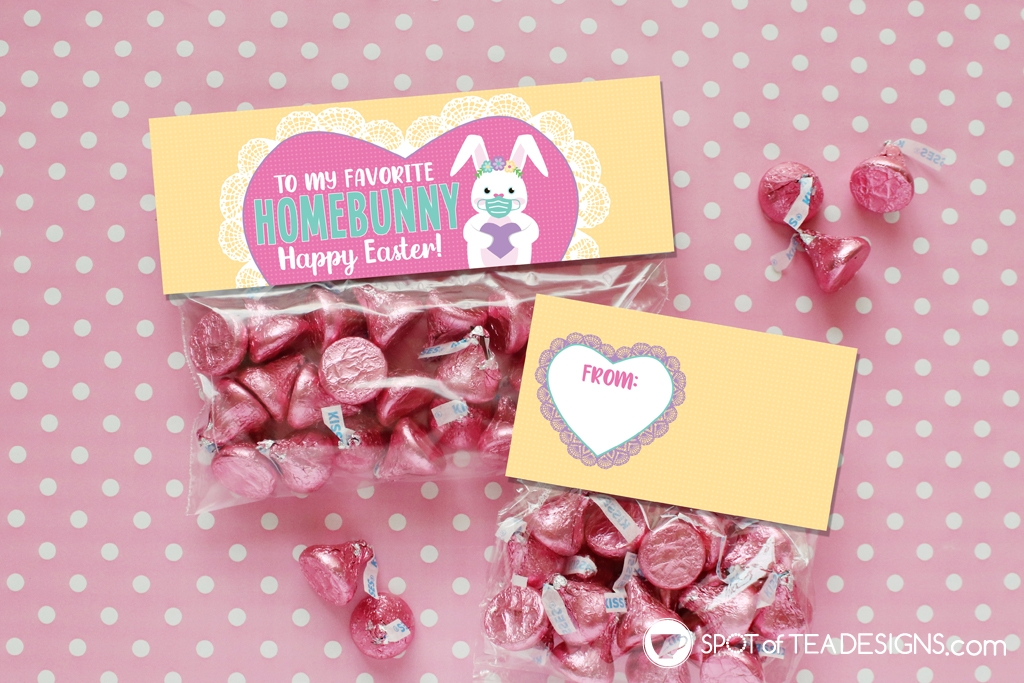Home bunny pencil holders and bag toppers Easter printables | spotofteadesigns.com