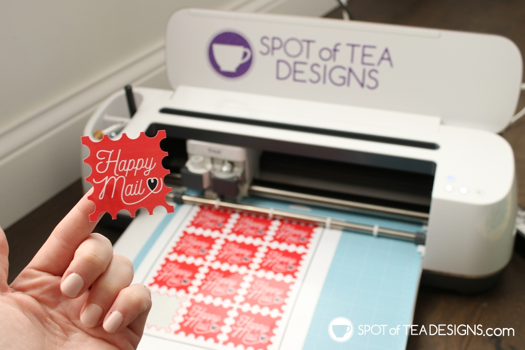 How to a make stickers on a Cricut | Print then cut tutorial | spotofteadesigns.com