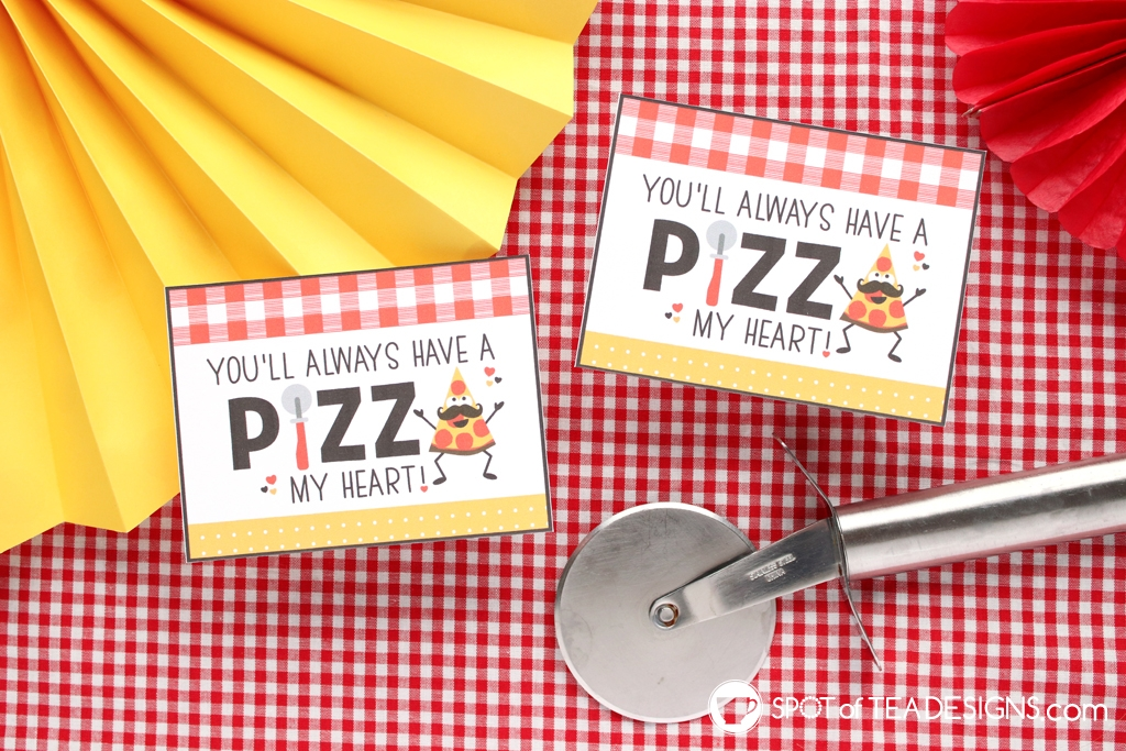 Pizza my heart Father's Day Printables - gift tags   spotofteadesigns.com