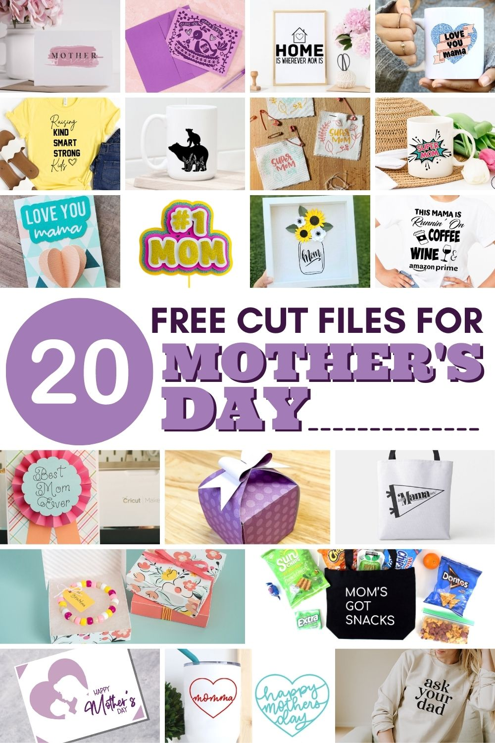 20 Free Cut Files for Mother's Day | Spotofteadesigns.com