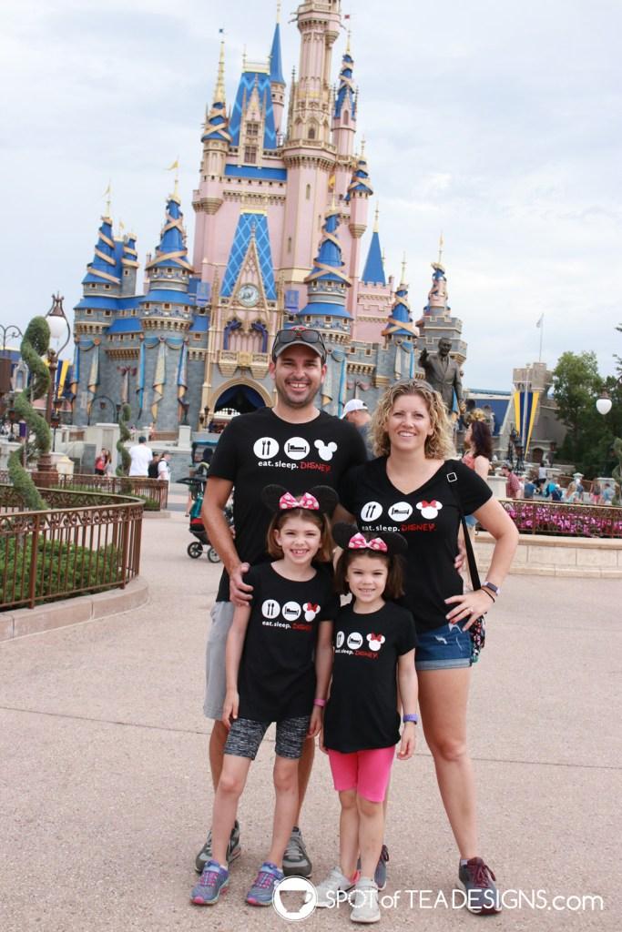 Eat sleep Disney matching t-shirts with free svg cut file | spotofteadesigns.com