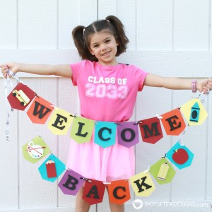 Welcome back to school banner - free svg cut file - Spotofteadesigns.com