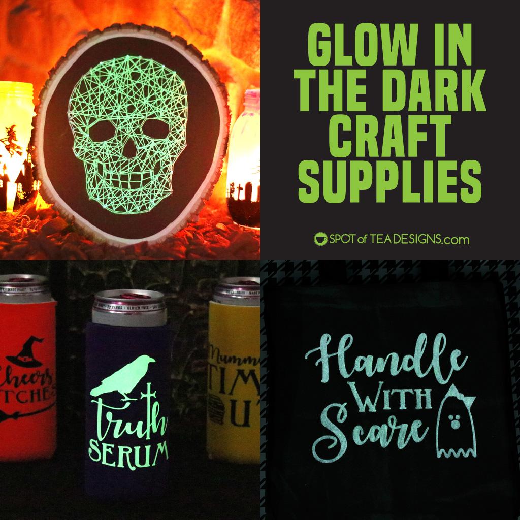 Glow in the dark craft supplies   spotofteadesigns.com