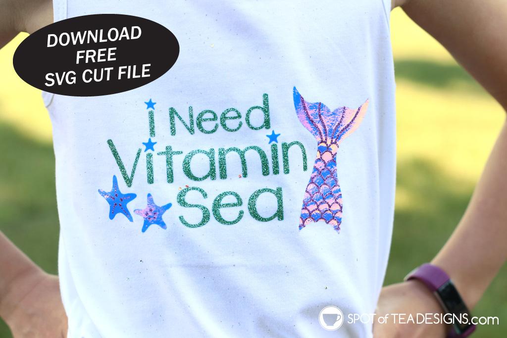 Vitamin Sea Mermaid SVG cut file | spotofteadesigns.com