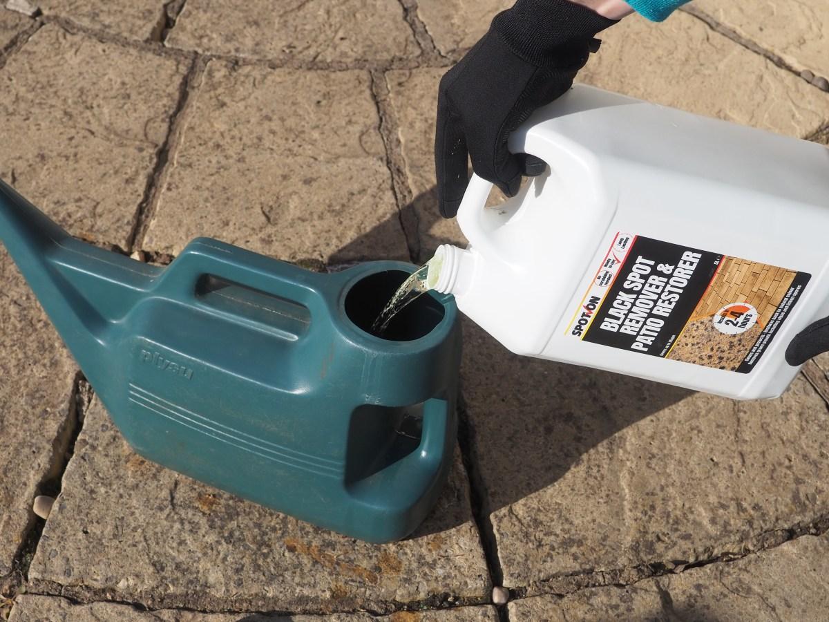 SPOT-ON Black Spot Remover & Patio Restorer ready to use 5 litre liquid