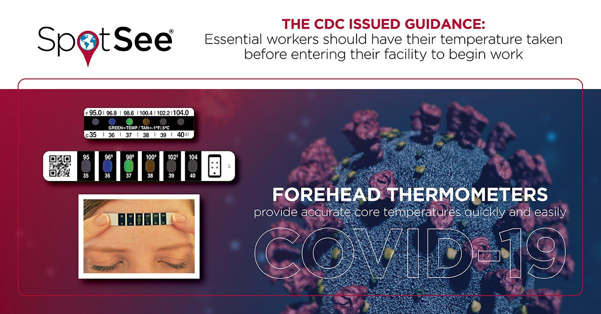 SpotSee Provides Self- Applied Forehead Thermometers to Help Prevent the Spread of COVID-19
