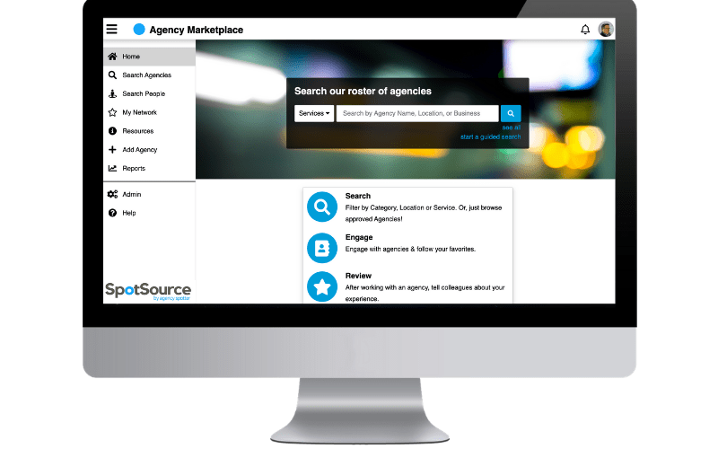 SpotSource by Agency Spotter for Enterprise Service Supplier Management