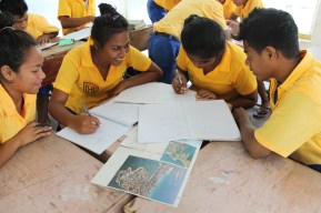 Teaching 5th Form Geaography, Immaculate Heart College, North Tarawa