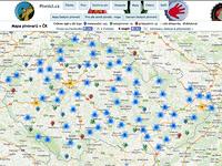 Mapa pivovarů v ČR