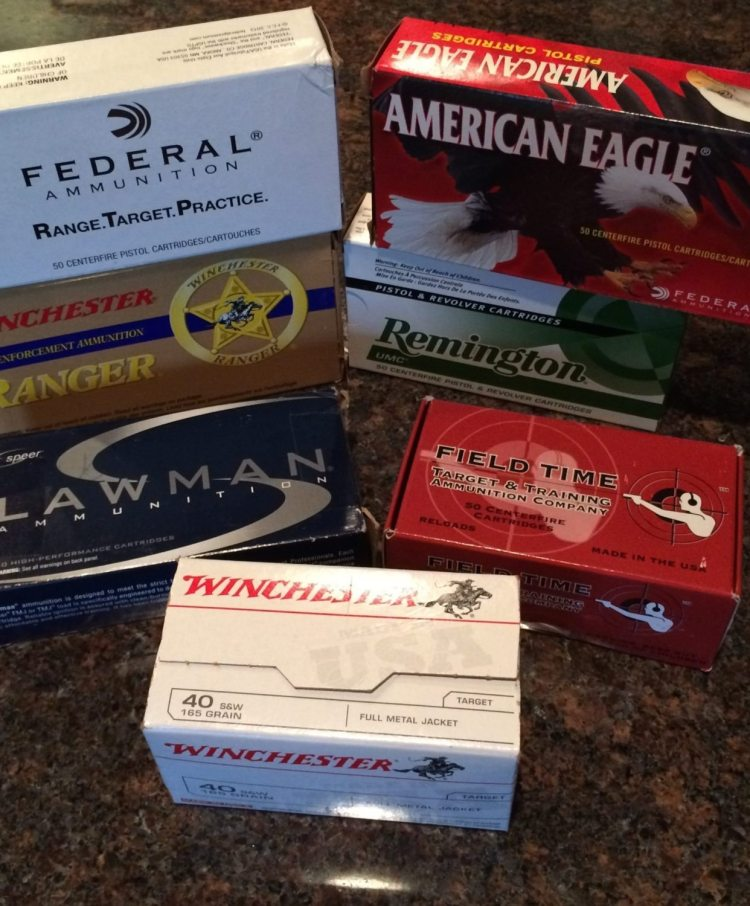 All of these are 40 S&W that I purchased during an ammo shortage. You can see they are all from different producers.