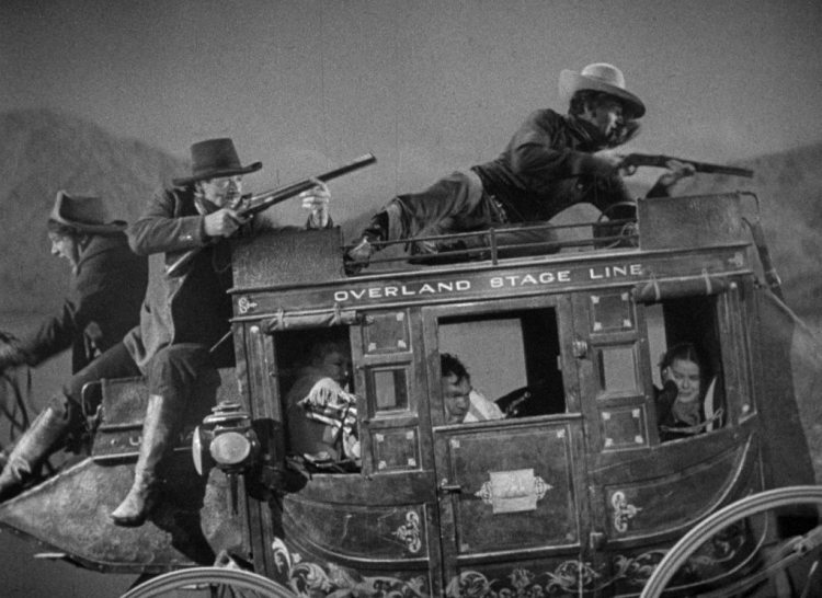 John Wayne in the movie Stagecoach
