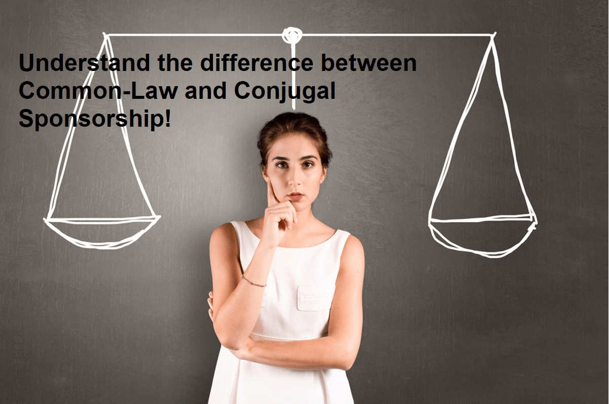 hight resolution of the difference between common law and conjugal sponsorship