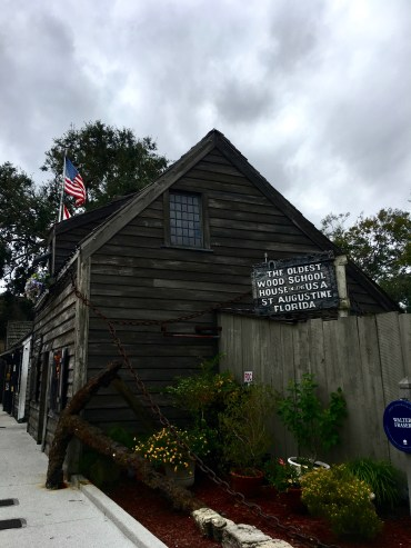 Travel Guide: St Augustine in a Day - St George St - Oldest wood school house - www.spousesproutsandme.wordpress.com