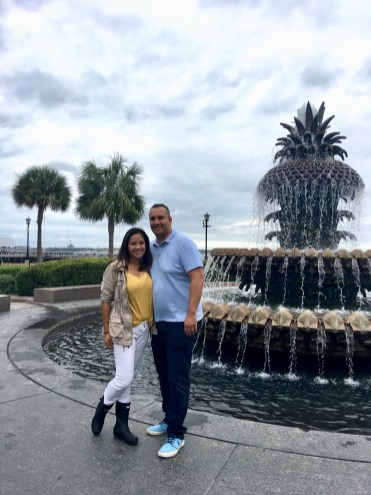Travel Guide: Charleston, SC - Pineapple Fountain - www.spousesproutsme.com