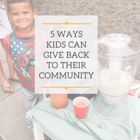 Thankful Thursday // 5 Ways Kids can Give Back
