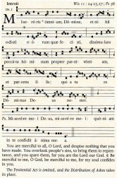 Gregorian Missal - Ash Wednesday introit