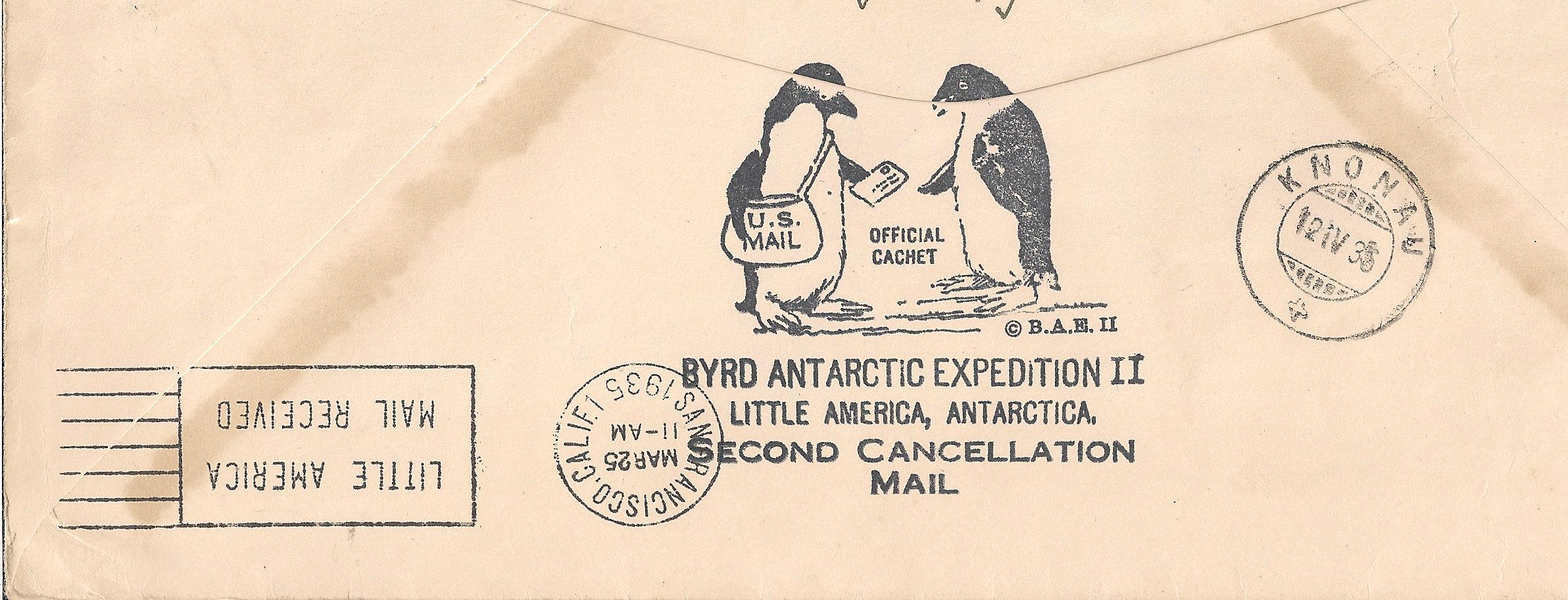 Une lettre de l'Antarctique – Amiral Byrd ANTARCTIC EXPEDITION II | SPR  Société Philatélique de Renens