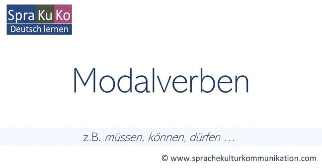 Modalverben in der deutschen Sprache