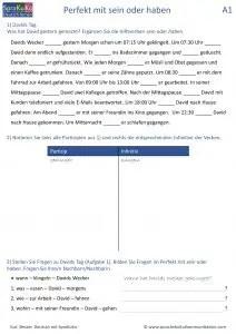 Deutsch lernen - Perfekt