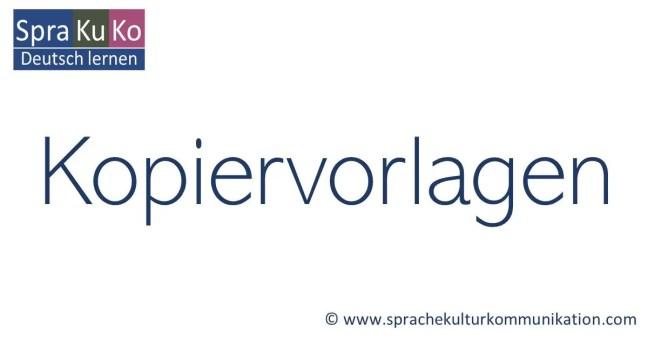 Arbeitsblätter Deutsch als Fremdsprache