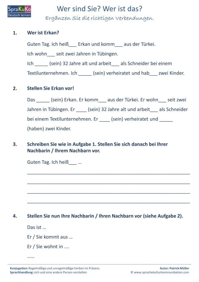 Arbeitsblatt den dem oder Unterrichtsmaterial und